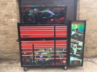 """Snap-On 53"""" Tool Box / Chest Roll Cab & Side Locker Honda Racing Limited Edition"""