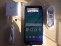SAMSUNG S6 EDGE BLUE/ UNLOCKED / 32 GB/ VISIT MY SHOP. / GRADE A / WARRANTY + RECEIPT