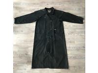 Driza Bone Full Length Waxed Black Riding / Stockman's Coat Size 4 Small CH 100 cm