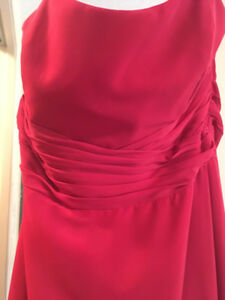 Alfred Angelo Bridesmaid Dress Style: 7386L Sz 16 Claret
