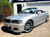**IMMACULATE** 2005 BMW 325 CI SPORT AUTO PETROL SILVER LEATHER M CONVERTIBLE