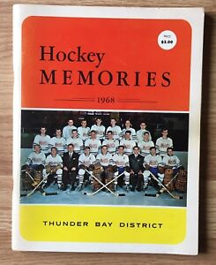 1968 HOCKEY MEMORIES ~ THUNDER BAY DISTRICT