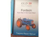 fordson major parts manuial/repair+ book,, sk10 macclesfield £20