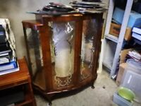 Vintage Cocktail / China Display Cabinet or Bar * Mirrored & Gilt Inlay * Stockbridge