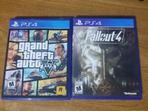 Gta 5 and Fallout 4 for Ps4
