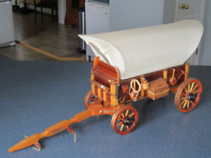 Handcrafted Covered Wagon Replica