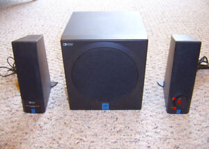 YAMAHA POWERED MULTIMEDIA SPEAKERS WITH SEPARATE BASS