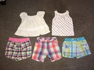 12-18 month summer shorts and tops
