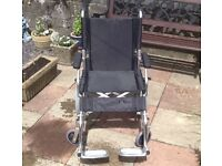 Lightweight Aluminium folding wheelchair