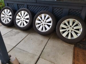 "4 Hyundai 17"" alloy rims w/ all season tires for sale"