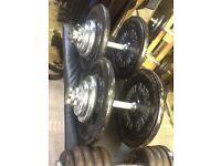 Marcy half smith machine. Cast iron weight plates £1 per kg