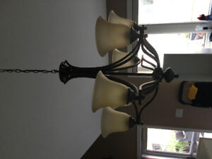 Two dining chandeliers