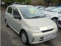 DAIHATSU CHARADE 989cc SL 5 DOOR HATCH 2003-53, GOLD, LOOK ONLY 81K FROM NEW,