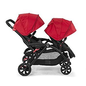 Double stroller. Contours options. Red