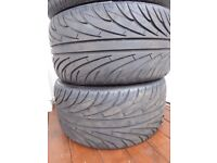 Tyres x 2 - 285/30 Z R19 94Y nearly brand new - Nankang Ultra sport NS2 - only done @ 30 miles