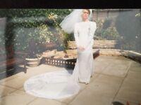 Catherine Rayner Ivory Wedding Gown, Veil and Facinator