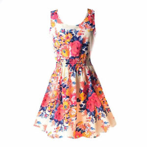 Floral + Feather Pattern Sheer Sundresses