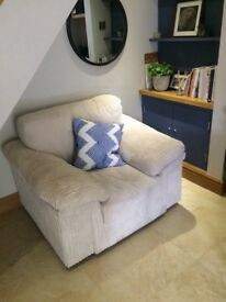 DFS cream two tone arm chair