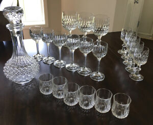 Crystal Glasses And Decanter
