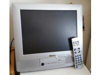 """Funai 15"""" LCD Silver TV"""