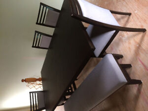 Dining Table With 4 chairs &a bench