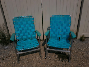 Vintage Rocking Lawn Chairs