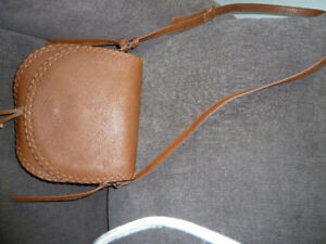 Womans leather look shoulder bag