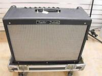 Fender Hot Rod Deluxe iii with Thon flight case with castors