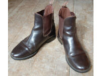 Jodphur Boots brown leather size 4 (adult size)
