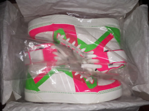 Gucci shoes, Men's Neon Leather High-top Sneaker