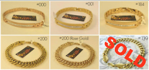 (Tracadie) NEW Yellow Gold Filled Mens and Womens Bracelets