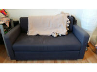 Ikea Sofa Bed Navy Blue