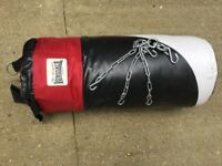 Lonsdale punchbag with chains.