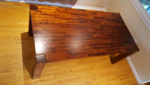 Long Solid Pine Harvest Kitchen Table