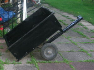 Wagon tow behind lawntractor
