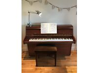 Bentley upright piano for sale. Around 30 years old and in excellent condition.