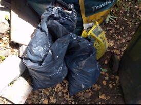 rubble sacks bagged