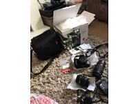 Canon double lens kit 1300d, case, Lightroom soft ware & memory storage