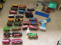 Job lot of Thomas Trackmaster engines, trucks, track and accessories