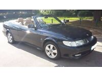 Saab 93 2.0 SE Convertible turbo manual dark blue with tan leather 11 months mot 2002 52 plate