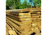 Treated timber scaffold boards