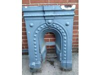Old fashions cast fire place