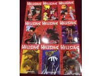 Hellsing Manga 1-9 by Kohta Hirano (full set only missing one book)