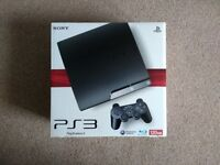 PlayStation 3 Slim 120GB with controller and cables