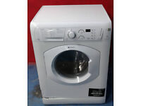 O607 white hotpoint 7kg 1400spin washer dryer comes with warranty can be delivered or collected