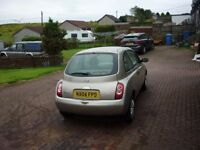 Nissan Micra E, in good condition for year, low insurance option