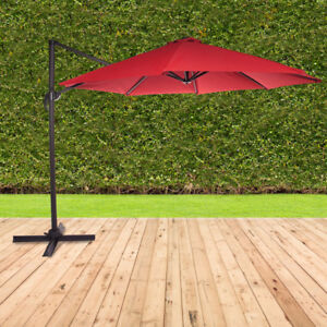 Tropea 9 ft. Collapsible Cantilever Umbrella - Red New in Box