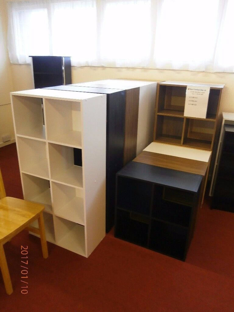 NEW Cube Bookcases, Various Sizes, Colours and Pricesin Coalville, LeicestershireGumtree - New cube bookcases. The 4 Cubes I have are X1 Walnut and X1 Black and X1 Beech The 6 Cubes I have are x1 Putty, X3 White, X1 Black and X1 Beech The 8 Cubes I have are X2 White, X1 Walnut Effect and X1 Black . The 4 measure 24 inches high, 24 inches...