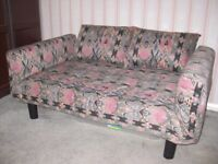 Single sofa bed size 15x32x76ins as bed. 15x32x56ins as sofa. Used as occasional guest bed.