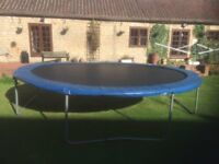 Trampoline - large - 18ft - complete. GWO.